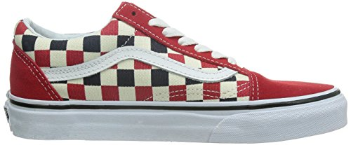 Vans Herren Old Skool Plateau red blue check