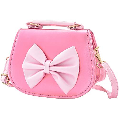 Insour borsa tracolla bambina, principessa borsa con tracolla regolabile, messenger borse per donna, piccola ragazza, bambino (rosa rossa)
