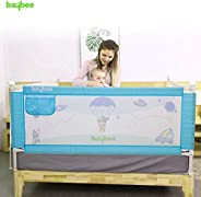 Baybee Bed Rail Guard for Baby Safety-Portable and Foldable Full Bed Rail for Kids (Blue, 180x63 cm)(Pack of 1