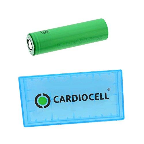 Murrata US18650VTC5A 18650 Akku - Li-Ion/3,7V/2600mAh - US18650 VTC5A (1x US18650VTC5A inkl. Cardiocell Akkubox)