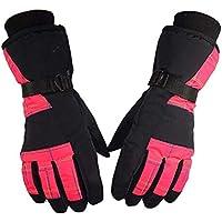 ZHJBD Equipo de Proteccion/Guantes de Ciclismo al Aire Libre Guantes de esquí de Invierno Antideslizante antidesgaste antidesgaste Más Guantes de Terciopelo de protección (Color : Pink)