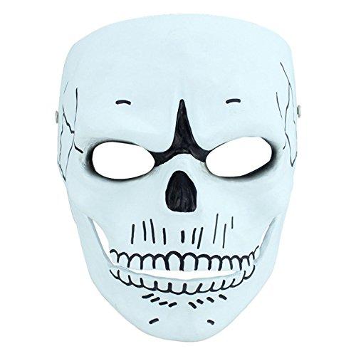 eutral Film Thema Sammlung Bond Cosplay Requisiten Harz Halloween-Maske,White-18*21cm (Halloween Maske Sammlung)