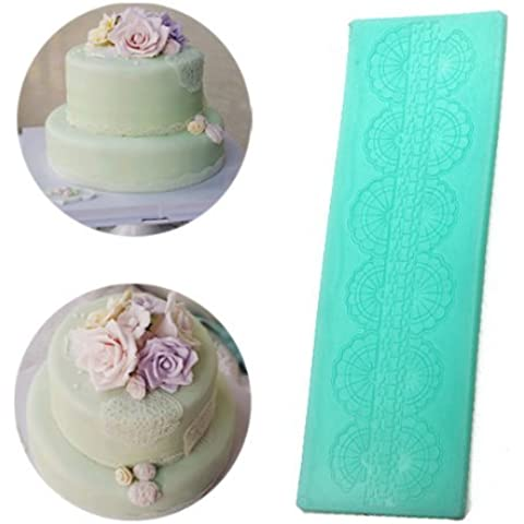 [Free Shipping] Silicone Cake Mold Fondant Cake Lace Decoration Silicone Lace Mold // Torta del silicón de decoración del cordón del molde de encaje de silicona pa by Bml
