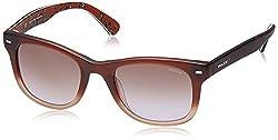 Police Gradient Wayfarer Unisex Sunglasses (S1861M50W41MSG|50|Brown Gradient lens)