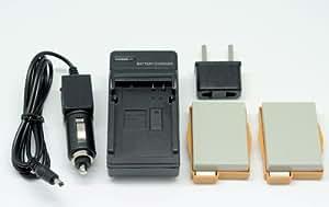 QUMOX 2x LP-E8 LPE8 mur de batterie chargeur de voiture pour Canon EOS 550D 600D 650D 700D