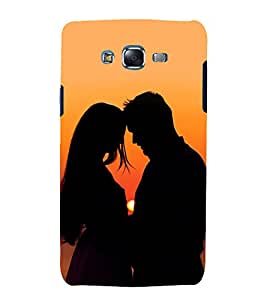 printtech Love Couple Sunset Back Case Cover for Samsung Galaxy Core 2 G355H