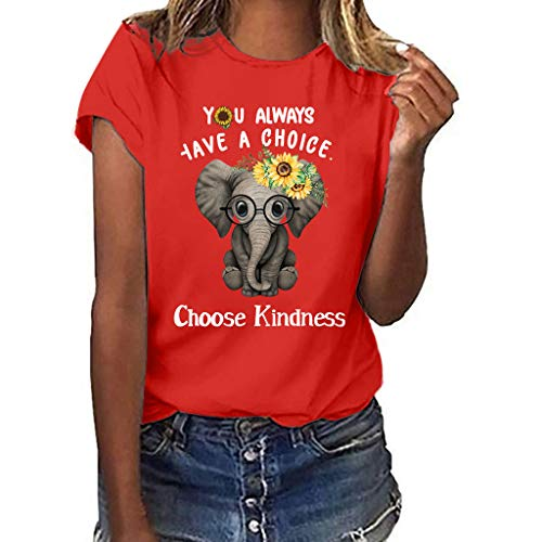 Junjie Frauen Plus Size Blumen Print Blumen lustige Sonnenblume Kurzarm T-Shirt Bluse Tops lila, Armee grün, grau, gelb, Wind rot, weiß, rosa, schwarz, rot (Dessous Womens Fisch-netz)