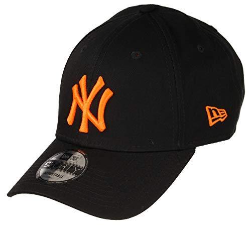 New Era New York Yankees MLB Cap New Era 9forty Verstellbar Baseball Schwarz Neon Orange - One-Size (Und Orange Schwarz)