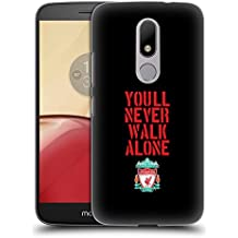 Official Liverpool Football Club Stencil Black Crest You'll Never Walk Alone Hard Back Case for Motorola Moto M