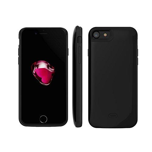 SYR chargeur de batterie Cases pour iPhone 7, Neuf Demi Lot batterie de secours externe Chargeur de téléphone portable Coque pour iPhone 7 noir