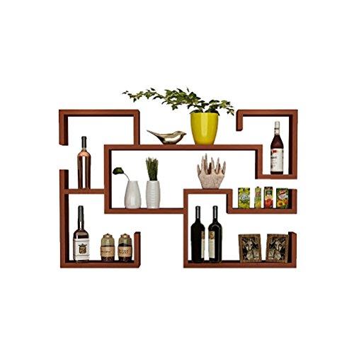 DSC Regal Wand Weinregal Hänge Weinschrank Küche Restaurant Wand Weinregal Einfache Dekoration Rack ( Farbe : B ) (Draht-wand Weinregal)