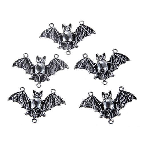 SUPVOX 20 Teile/paket Halloween Fledermaus Charme Halloween Metall Anhänger Silber Pendent Halskette Pendent für Schmuck Machen DIY Entdeckungen