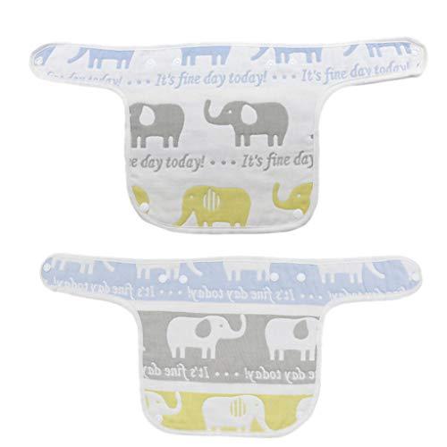 Morza 2ST zufällige Farbe Baumwollbaby Burp Schürze Baumwolle Baby rülpsen für Mädchen Kleidung Saliva Trägertücher Neugeborene Jungen Tuch Schürze Lätzchen Feeding
