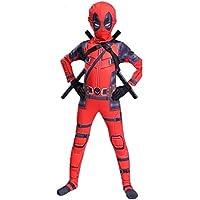 BLOIBFS Totes Schwimmbad Kostüm Erwachsene Kinder Halloween Cosplay Kostüm Body Spandex Overalls Cosplay Voller Satz Kleidung,Children-S