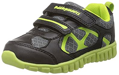 Bubblegummers Boy's Concept Black Leather Sports Shoes - 5 kids UK/India (23 EU) (1116065)