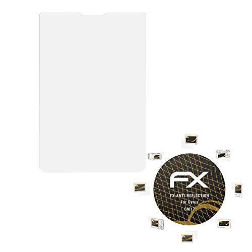atFolix Panzerfolie kompatibel mit Cyrus CM17 Schutzfolie, entspiegelnde & stoßdämpfende FX Folie (3X)