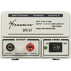 SADELTA SPS-57 Fuente Alimentación Conmutada 220 v /13,8 v. 5-7 amperios. Ideal para Electronica, Radioaficionados.