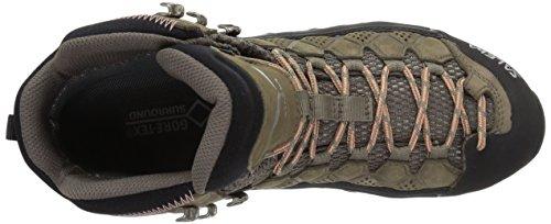 Salewa Ws Alp Flow Mid Gtx, Chaussures de Randonnée Hautes femme Marron (Walnut/peach Coral 2719)