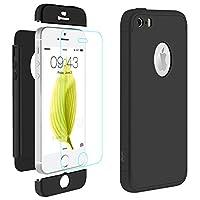 Creata esclusivamente per Apple iPhone SE/5/5S (4.0 pollici).3-in-1 Struttura:Progettato con 3 parte di matte PC per proteggere il vostro iPhone da cadere, la scossa e graffi ecc.Applicazione semplice grazie ad un vetro protettivo di qualità ...