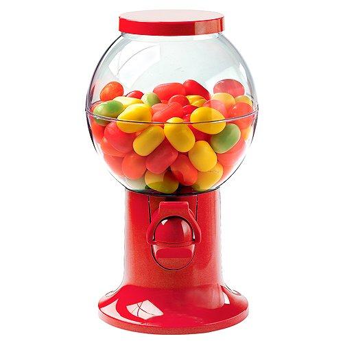 Dispensador de golosinas en rojo, de plástico, apto para galletas, mascar, caramelos...
