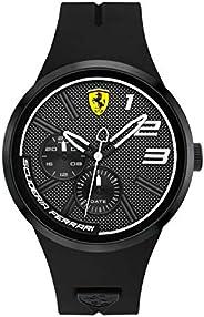 Ferrari Men's Black Dial Color Leather Strap Watch - 83