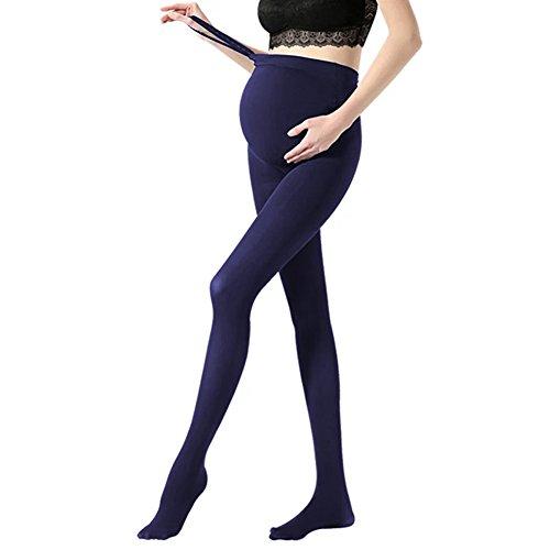 Mutterschaft Stretch Hose (Vellette Strumpfe & Strumpfhosen Opaque Umstandsstrumpfhose Unterstutzung Leggings Mutterschaft Hose fur alle Phasen der Schwangerschaft Damen 180D)
