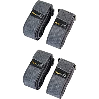 AceCamp 2 x 2 Packing Strap 2.5 x 90 cm All-Purpose Belt Mounting Strap, Bike, Sport, Twin Pack Gray, 91149