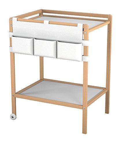 AT4 - Table à langer T3317 - 1 étagère + rangements textile