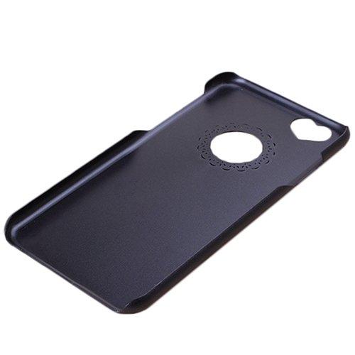 F8Q Ultra Slim Mignon coeur creux Fille en plastique Housse de protection pour iPhone 6 Noir