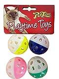 Petlove 3884 Pet Love, Playtime Klingelball-Spielzeuge für Katzen und Kätzchen, 4er-Pack