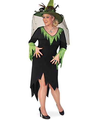 Märchenhexe Damen Kleid 58 1tlg. Halloween BIG Damen Kostüm Geist Zauberer Hexe (Bella Kostüm Vamp)