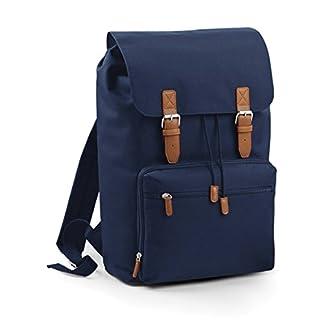 De repuesto para ordenador portátil Vintage mochila de poliéster y piel mediante BagBase – quedó colores 3