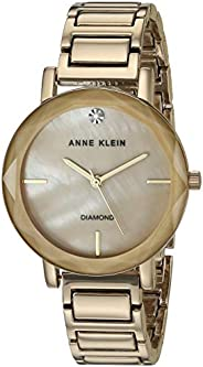 Anne Klein Women's Diamond Dial Bracelet Watch with Faceted