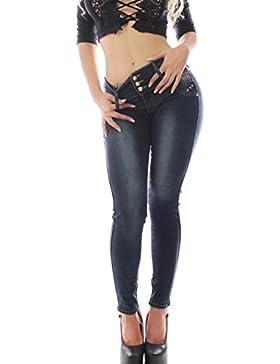 FARINA 1326 Denim Pantalones, Jeans, Vaqueros de Mujer, Push up/Levanta Cola, Pantalones Vaqueros Elasticos Colombian...