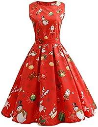 7b65712bb30cf1 Vectry Kleider Damen Rockabilly Kleid Elegante Kleider Lange Kleider Frauen  Sommer Festliche Damenkleider Knielang - Damen