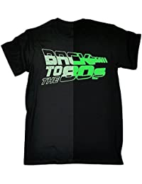 123t - GLOW IN THE DARK - BACK TO THE 80'S - T-SHIRT (Distressed Style Print)