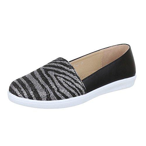 Damen Schuhe, K807, HALBSCHUHE BALLERINAS