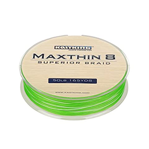 KastKing Maxthin8 Braid Fishing Line - 30% Thinner than Competitor Brands- 165Yds/150M Super Strong 8 Strands Premium Braided Line -ICAST Award Winning Brand (Aqua Green, 165-Yard/80LB (80 Lb Braid)