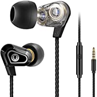 Beexcellent In Ear Kopfhörer, Dual Dynamic Treiber Bass Kopfhoerer Noise Cancelling Ohrhörer mit Mikrofon für iPhone Android Smartphones Tablets MP3 Player
