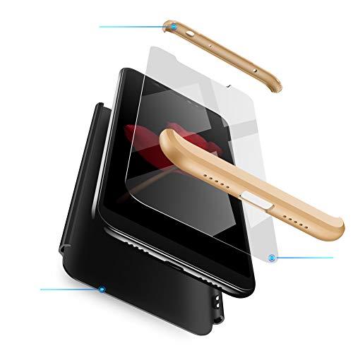 Funda Xiaomi meu 8 Carcasa XiaoMi Mi 8 amb [ Protector de Pantalla de Vidre Temperat ] 3 a 1 Desmontable XiaoMi Mi 8 Funda Protectora - polzada 360 ° complete package protection - Negro Oro