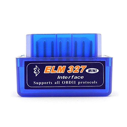 Shine @ Bluetooth OBDII scanner Toolmini ELM327V1.5auto adattatore di controllo motore strumento diagnostico per Android (Sensore Chevy Ossigeno)