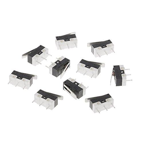 LANDUM 10 Stücke 2A 125 V 3PIin Micro Endschalter Hebel Roller Arm Betätiger SPDT Schalter -