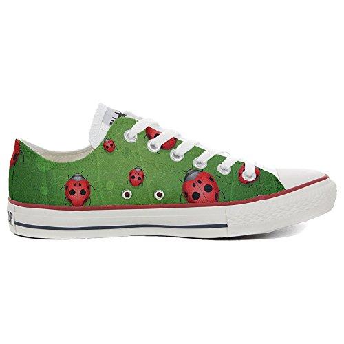 Converse All Star personalisierte Schuhe (Handwerk Produkt) Slim Lady Bugs - Size EU46