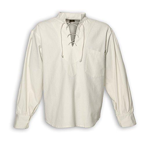 KUNST UND MAGIE Alternatives Herrenhemd, Größe:3XL, Farbe:Naturfarben