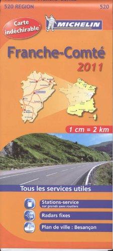 Franche-Comté : Carte indéchirable 1/200 000