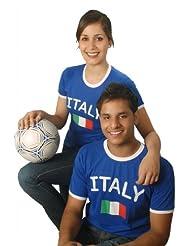 BRUBAKER Italien Fan T-Shirt Blau Gr. S - XXXL
