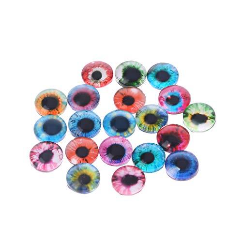 (ZOOMY 20 Stück Glas Puppe Augen Tier DIY Handwerk Augäpfel Für Dinosaurier Auge Zubehör Schmuck Handgemachte Farbe Nach Dem Zufall - 8mm)
