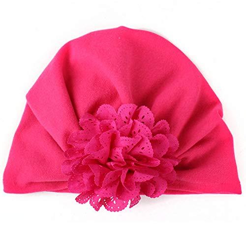 Team Kostüm Pink Gehen - CCIKun 6 Farben Babymütze Boho Neugeborene Baby Mädchen Mütze Hut Kleinkind Kopf Elastische Stretch Turban 100% Super Weich Baumwolle Knoten Stirnband (Pink,Einheitsgröße)