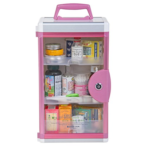 MMM Portable Medicine en alliage d'aluminium Chest Famille multi-étages Accueil Emergency Medicine Box mural