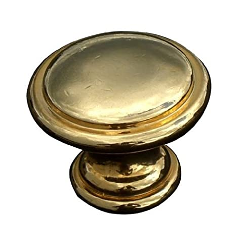 2 x Gold / dark Brass effect 30mm ring knobs solid metal handle by Swish.